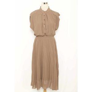 SZ Style by Shez Brown Sleeveless Dress NWT
